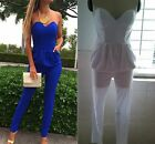 Sexy Women Strapless Cocktail Bra Romper Jumper Jumpsuit Playsuit Party Clubwear