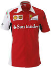 Puma SF Ferrari Team Red White Motorsport Mens Cotton Shirts (761461 01 U15)