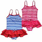 Girls Kids Striped One-piece Tutu Tankini Swimwear Swimsuit Swiming costume 3-8