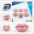 Novelty Funny Orthodontic Soother Nipples Lips Baby Teether Dummy Pacifiers CB