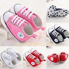 Hot! unisex Infant Toddler Baby Boy Girl Soft Sole Crib Shoes to 18 MonthsAU3
