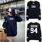 EXO Black Coat Sehun Baekhyun Sweater Chanyeol KAI Long Sleeve Hoodie For EXO-L