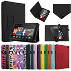 """For 2014 Amazon Kindle Fire HD 7"""" Tablet Folio PU Leather Case Cover Stand"""