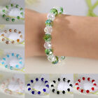 Fashion Crystal Faceted Loose beads Bracelet Stretch Bangle Woman Jewelry Gifts