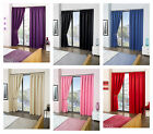 """Cali ECO Thermal Blackout Tape Top Curtains 45"""" Width x 72"""" Drop"""