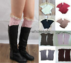 2014 Women's Crochet Lace and Knitted Boot Cuffs Toppers Leg Warmers Socks