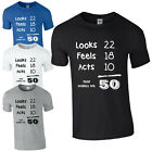 THAT MAKES ME 50 BIRTHDAY T-SHIRT - FUNNY NOVELTY 50th BDAY GIFT PRESENT S-5XL