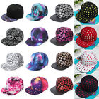Women Men Vintage Print Baseball Flat Peaked Hat Snapback Hip-Hop Adjustable Cap