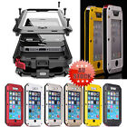 Waterproof Shockproof Gorilla Glass Metal Cover Case For iPhone4 4s 5 5s 6 Plus