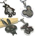 BPEM0195 STAINLESS STEEL BABY BEAR RABBIT PENGUIN MICKEY MOUSE PENDANT NECKLACE