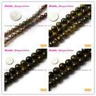 """Round Green Crackle Agate Loose Beads Jewelry Making  Strand 15"""" Size Selectable"""