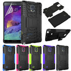 Hybrid Armor ShockProof Protective Hard Case Cover For Samsung Galaxy Note 4