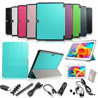 "For Samsung Galaxy Tab 4 10.1"" SM-T530 Smart Cover Leather Case Stand+Accessory"