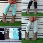 Nice Ladies Bohemian Knit Lace Leg Warmers Boot Socks Boot Cover 1 pair