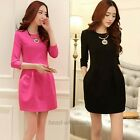 Casual STYLE NCIE Women 3/4 Long Sleeve Party Evening Cocktail Mini Dress