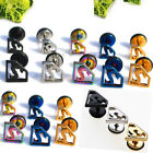 New Stainless Steel Superman Ear Stud Earrings Punk Cool Men's Jewelry Piercing