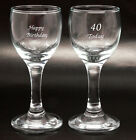 Personalised Pair of 50ml Tall Liqueur Glasses, Gift Box, Engraved Birthday Gift
