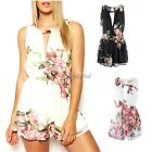 Retro Romper Chiffon Floral Playsuit cocktail party evening Jumpsuit Dress short