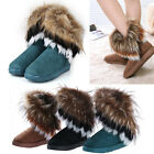 Hot Sale Women Autumn Winter Snow Boots Ankle Boots Warm Fur Shoes UK Seller
