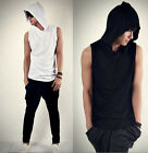 Fashion Men Korean Beach Sports Casual Hoodie Sleeveless Cap Shirts Tops CA LO