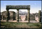 PC05 Vintage Photograph Pompaii Ruin Mount Vesuvius Italy Poster Re-Print A3/A4