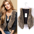 New Women Vest Sleeveless Coat Outerwear Long Hair Jacket Waistcoat Applied