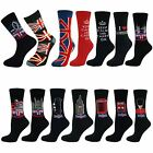 Mens Boys Casual Souvenir Mid Calf Ankle Crew Short Cotton Socks New Lot