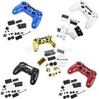 Full Housing Shell Case Button Kit Replace Part for Sony PS4 Wireless Controller