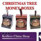 H&H Personalised Money Box Names Christmas Tree Decoration Special Blank Friend