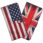 VINTAGE UK US FLAG Leather BOOK Flip CASE COVER WALLET for iPHONE 6/6S Plus