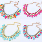 Charm Fashion Jewelry Chain Pendant Crystal Choker Chunky Statement Bib Necklace