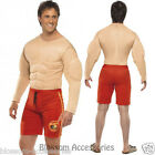 CL179 Baywatch Men's Beach Muscle Chest Jumpsuit Lifeguard Fancy Costume Outfit