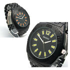 Henley Mens BIG Watch Matt Black Bracelet choice of 2 Colours