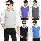 Fashion Men Sleeveless Cotton Nylon V-Neck Tank Top Vest Warm Jumper Cardigans
