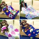 Soft Sleeves Pocket Fleece Kids Boys Girl TV Blanket Christmas Gift Snuggle Warm
