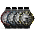 1pc Boy Big Case Sport Casual Black Rubber Wrist Quartz Watch Fashion Style Hot