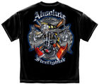 New Black T-Shirt with Absolute Firefighter with Skull in SCBA Design
