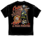 New T-Shirt with Once and Always a Firefighter Design