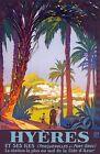 TX356 Vintage Hyeres France French Broders Travel Railway Poster Print A2/A3/A4