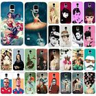 Fashion Girls Lady Man Painted Draw Figure Case Cover For Samsung Galaxy S4 S5