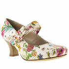 HUSH PUPPIES PHILIPPA BOW FLORAL WOMENS MULTICOLOURED MAN MADE HEELS SHOES