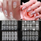 NEW Fashion 3D White Lace Crystal Nail Art Sticker Tips Wraps DIY Decoration Hot