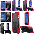 Colorful Rubberized Hard PC/Silicone Hybrid Case Cover For Sony Xperia Z3
