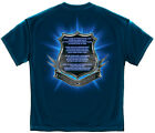 New Navy Blue T-Shirt with Officer's Prayer Police Law Enforcement  Design