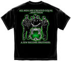 New Black T-Shirt with Few Become Brothers Irish Police Law Enforcement  Design