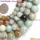 "Natural Round Smooth Amazonite Gemstone Jewelry Making  Beads Strand15""Size Pick"