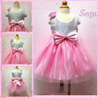 Pinks Communion Wedding Party Outfit Flower Girls Dresses AGE 0 3 6 9 12 24 Mths
