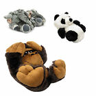 Mens Boys NOVELTY SLIPPERS New Panda Gorilla Elephant S M L