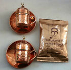 Turkish Coffee Set,PURE Copper- Porcelain Cups, Handhammered & Coffee  -M02