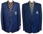 "Polyester School Blazers - Royal Blue - 2 Different Styles - Many Sizes 29""-40"""